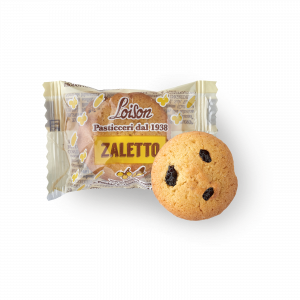 Zaletto biscuit with Corn Flour and Raisins - individually wrapped - Loison