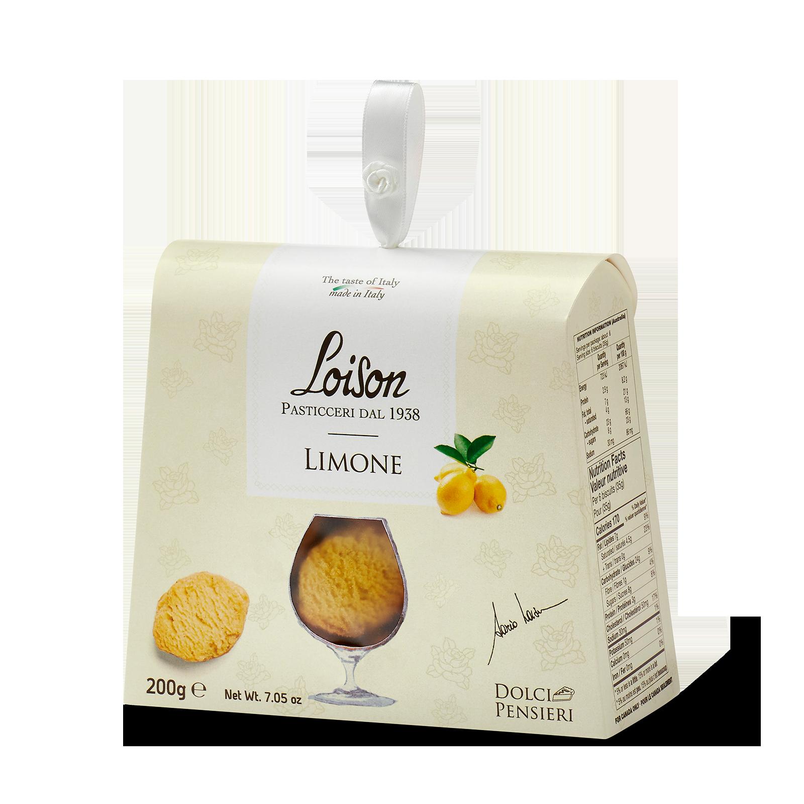 Biscotti artigianali al limone in astuccio regalo 200 gr