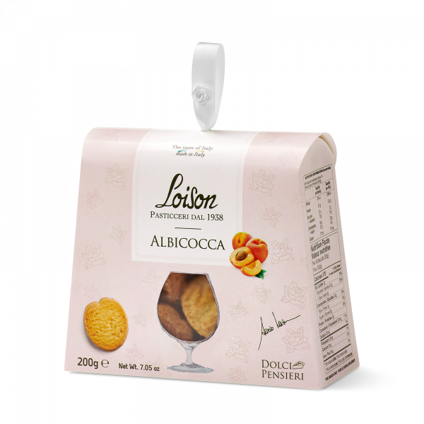 Apricot biscuits - fine butter cookies in a gift box Loison