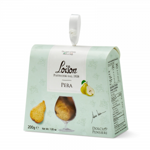 Pear biscuits - fine butter cookies in a gift box Loison