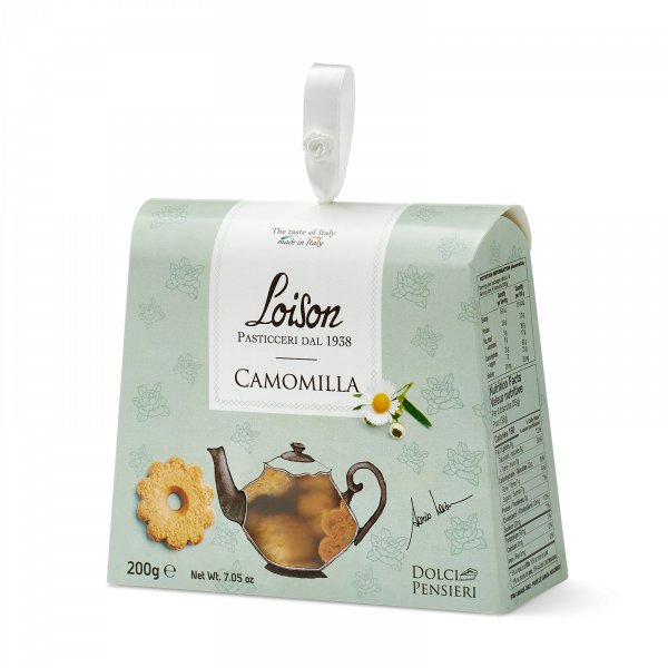 Chamomile biscuits - fine butter cookies in a gift box Loison