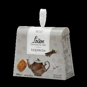 Biscotti artigianali liquirizia in astuccio regalo 200 gr