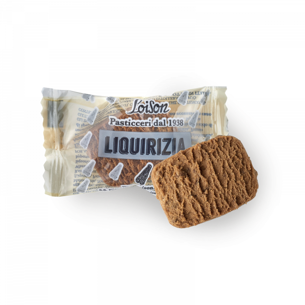 Liquorice Biscuits individually wrapped - Loison