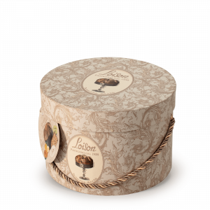 Panettone italien artisanal en boîte à chapeaux