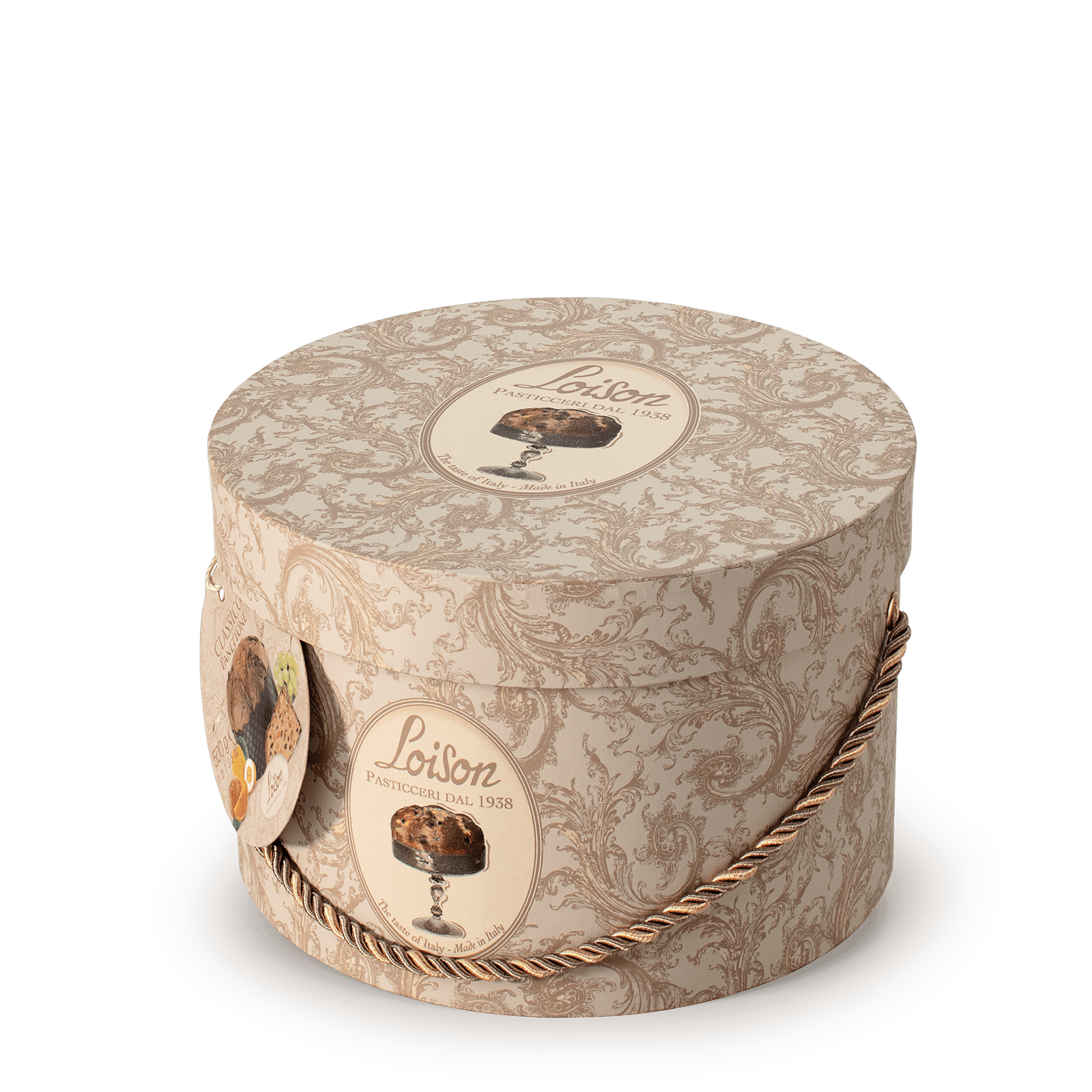 Traditional Artisan Italian Panettone in a hat box Loison