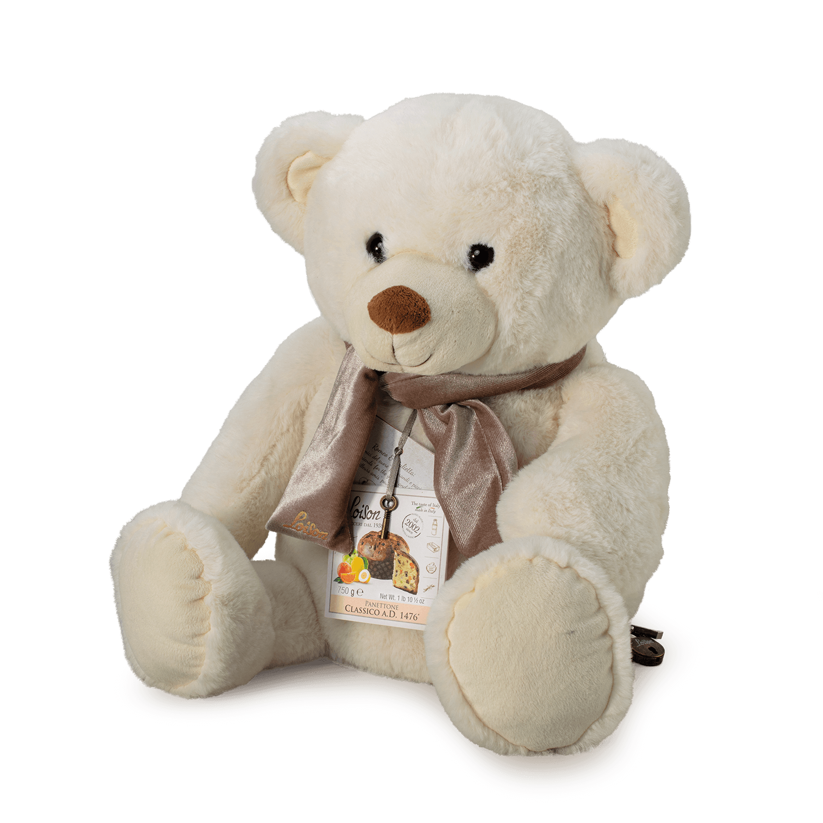 Classic Panettone in a gift box Teddy Bear Loison
