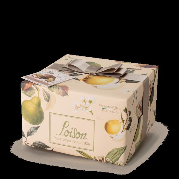 Panettone Noel avec Poire, Cannelle, Clou de Girofle and Anis Etoilé Fruits et fleurs Loison