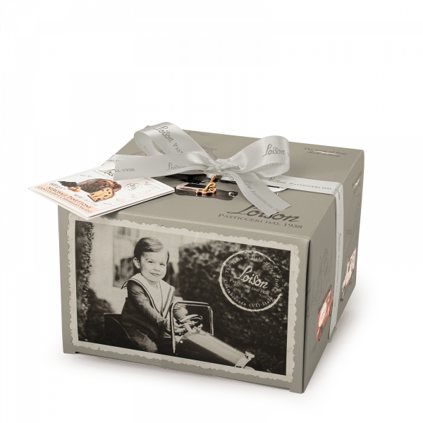 Panettone with Salted Caramel Cream & Chocolate NeroSale Top Line Loison