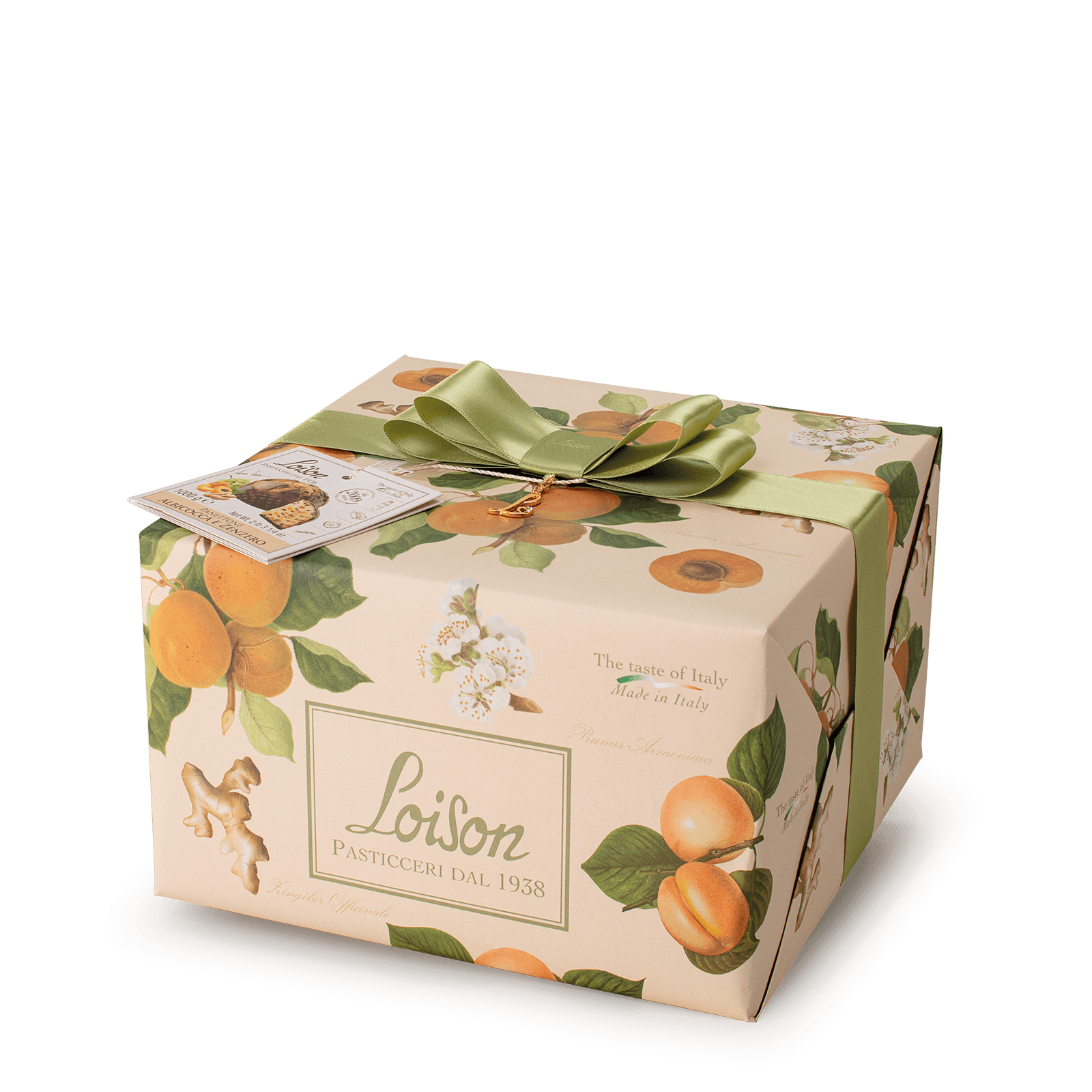 Apricot and ginger Panettone - Fruit and Flowers Loison