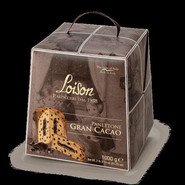Panettone Gran Cacao al cioccolato Astucci 1kg Loison