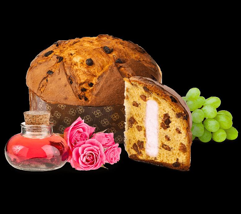 Panettone Rose with Rose Syrup – 600g – Frutta e Fiori