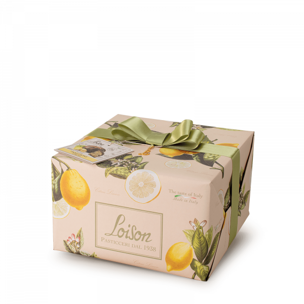 Lemon Panettone with lemon cream - Fruit and Flowers Loison