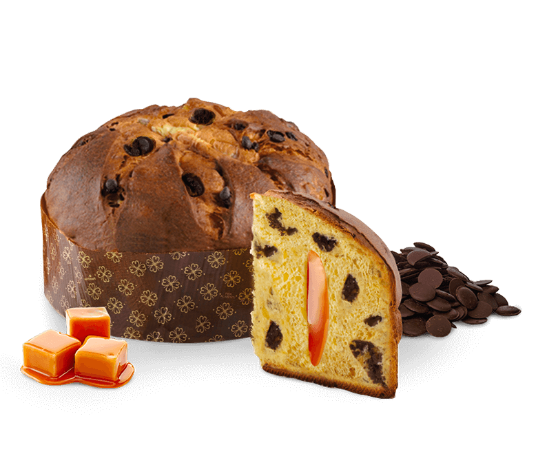 Panettone NeroSale with Chocolate & Salted Caramel – 1kg