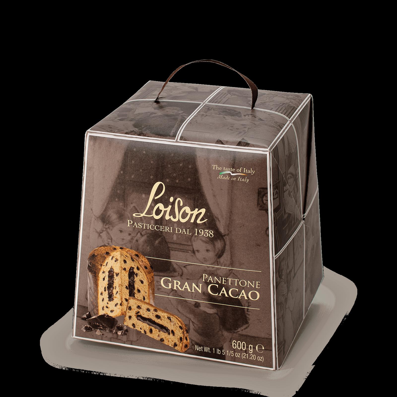 Panettone Gran Cacao al cioccolato Loison 600 gr