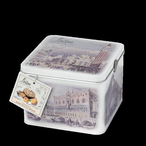 Veneziana albicocca e spezie in latta