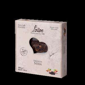 Sbrisola Nera torta con mandorle, nocciole Piemonte IGP e crema al cacao – 200 gr