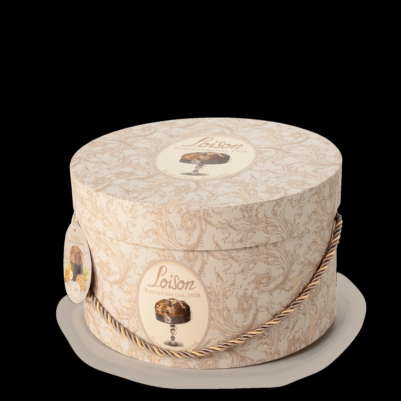 Classic Italian Panettone in a hat box Loison