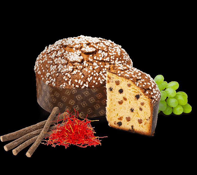 Panettone Licorice & Saffron – 1kg – Frutta e Fiori