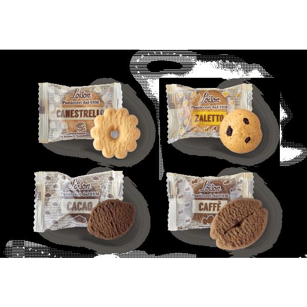Biscuits au beurre en sachet individuel