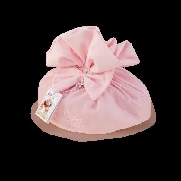Colomba classica in sacchetto tessuto rosa
