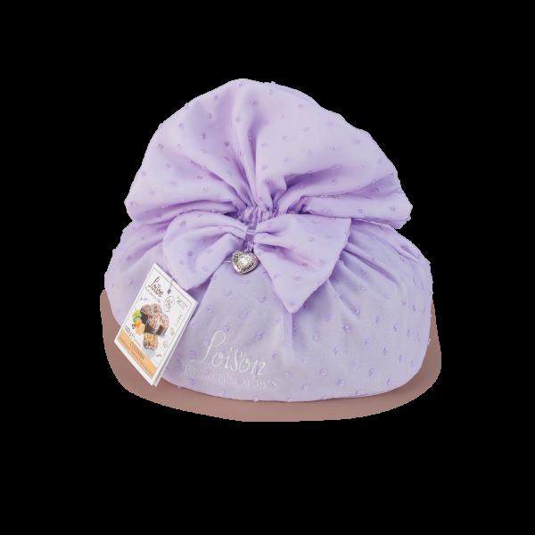 Colomba classica in sacchetto tessuto lilla