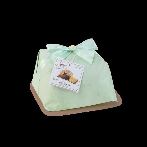 Focaccia de Pâques artisanale, brioche de Pâques italienne