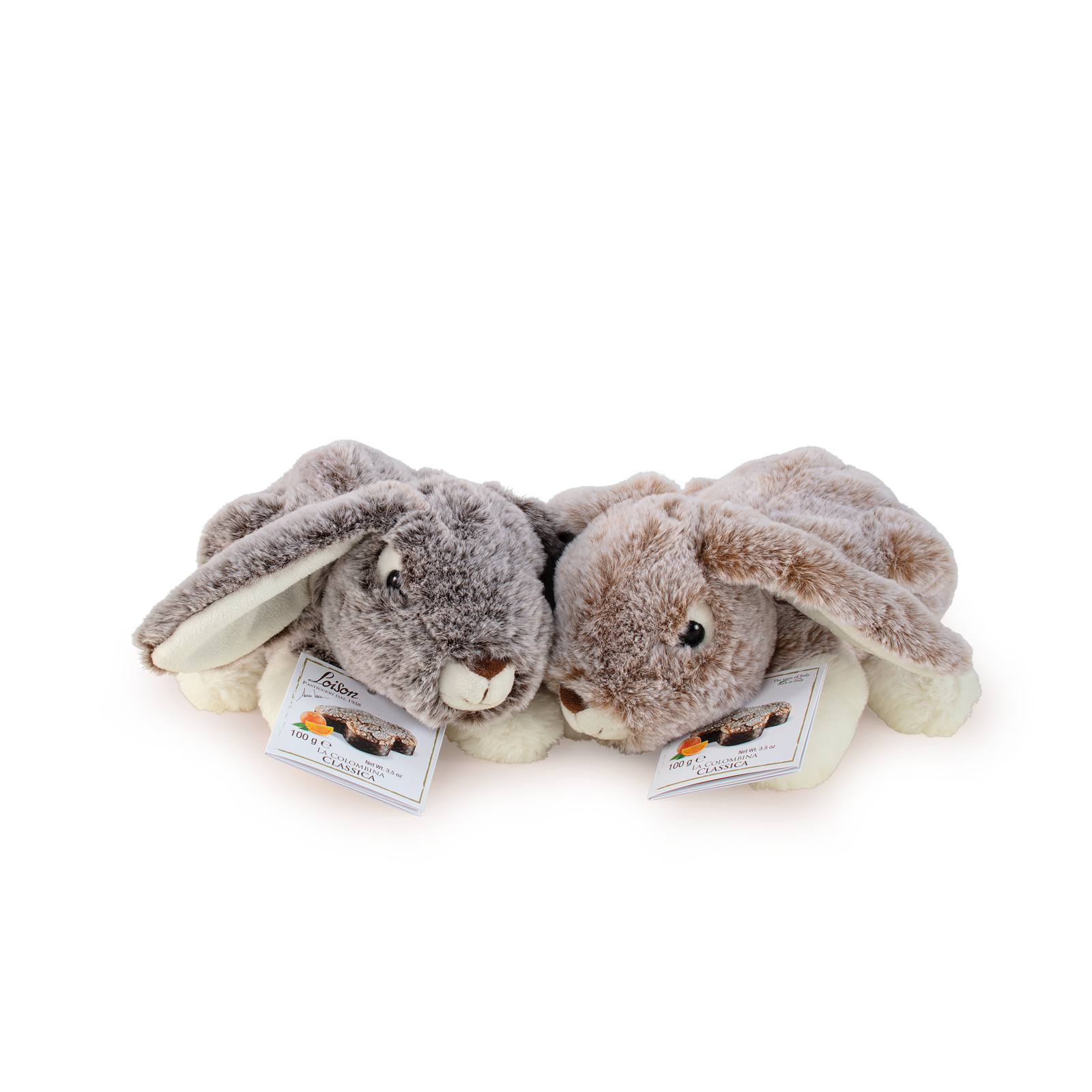 Colombine, mini colombe in coniglietti peluche