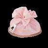 Colomba cioccolato in sacchetto tessuto rosa