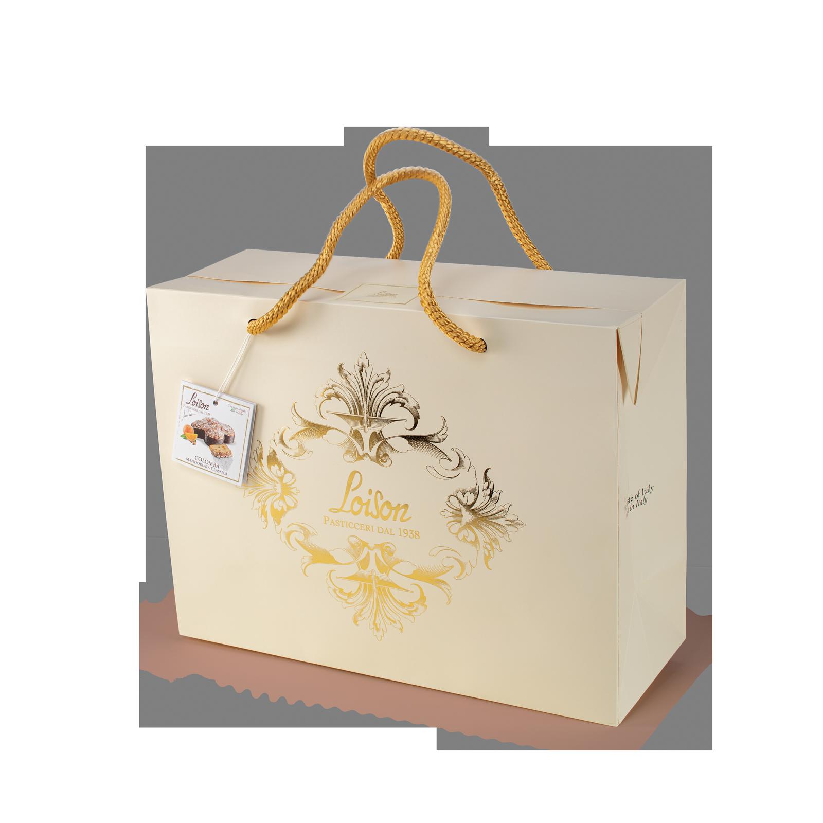 Colomba Magnum classica artigianale in scatola shopper regalo