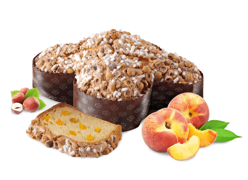 Colomba Peach & Hazelnuts – 500g