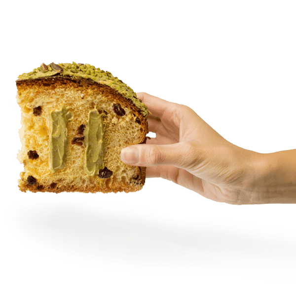 Panettone Pistacchio Matcha fetta